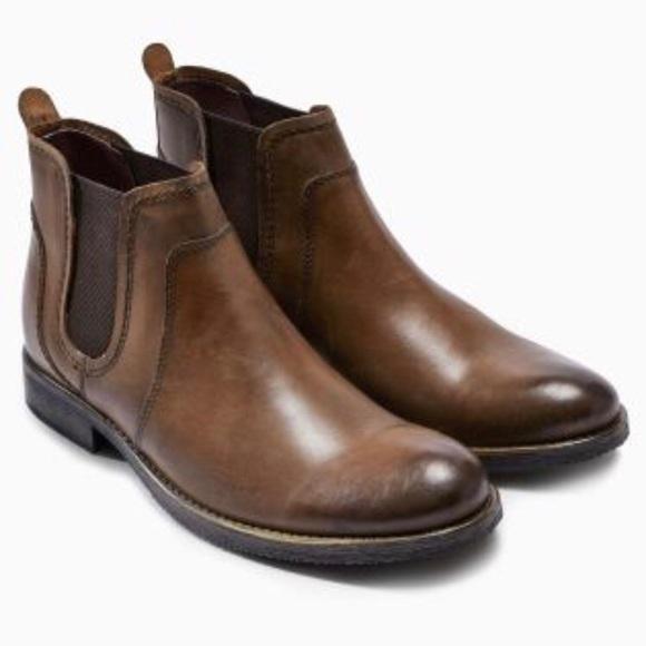 Mens Tan Round Toe Chelsea Boots | Poshmark